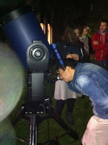 Astro students on the telescope at the Work Experience observing night
