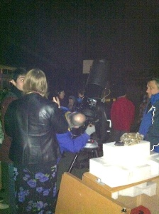 More of the crowd with Peter's Celestron