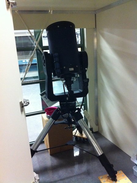 Pascoe Vale Girls College telescope tucked up in bed for the night.